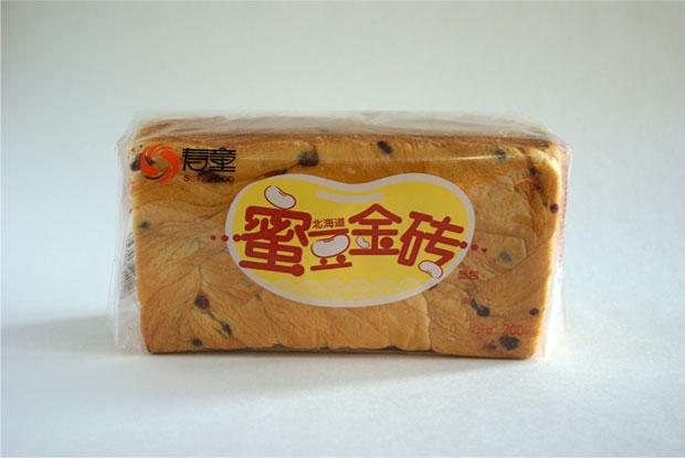 寿童蜜豆金砖面包包装设计